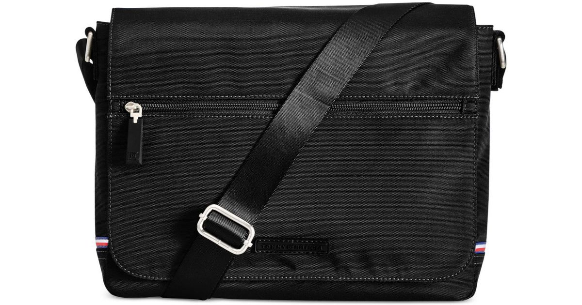 b6a04f5dc84a Lyst - Tommy Hilfiger Men s Alexander Flap Messenger Bag in Black for Men