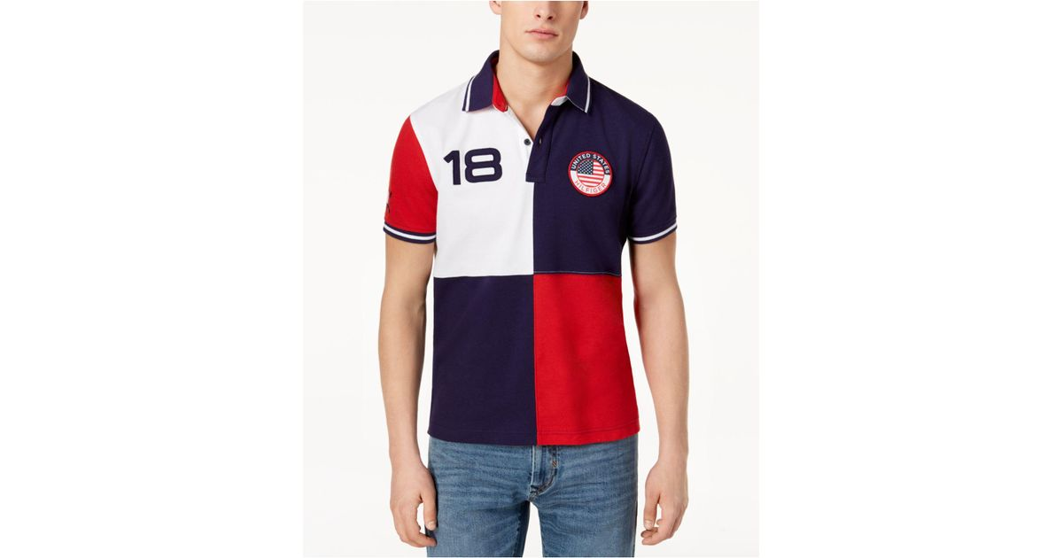 5cc7d52d Tommy Hilfiger Classic Fit Country Polo, Created For Macy's in Blue for Men  - Lyst