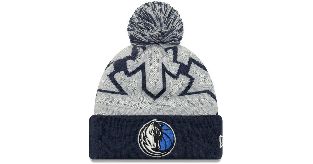 eeeef5896b64a Lyst - KTZ Dallas Mavericks Glowflake Cuff Knit Hat in Blue for Men