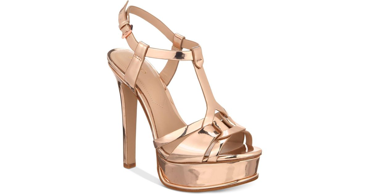 4a74d0930ea Lyst - ALDO Chelly Platform Dress Sandals