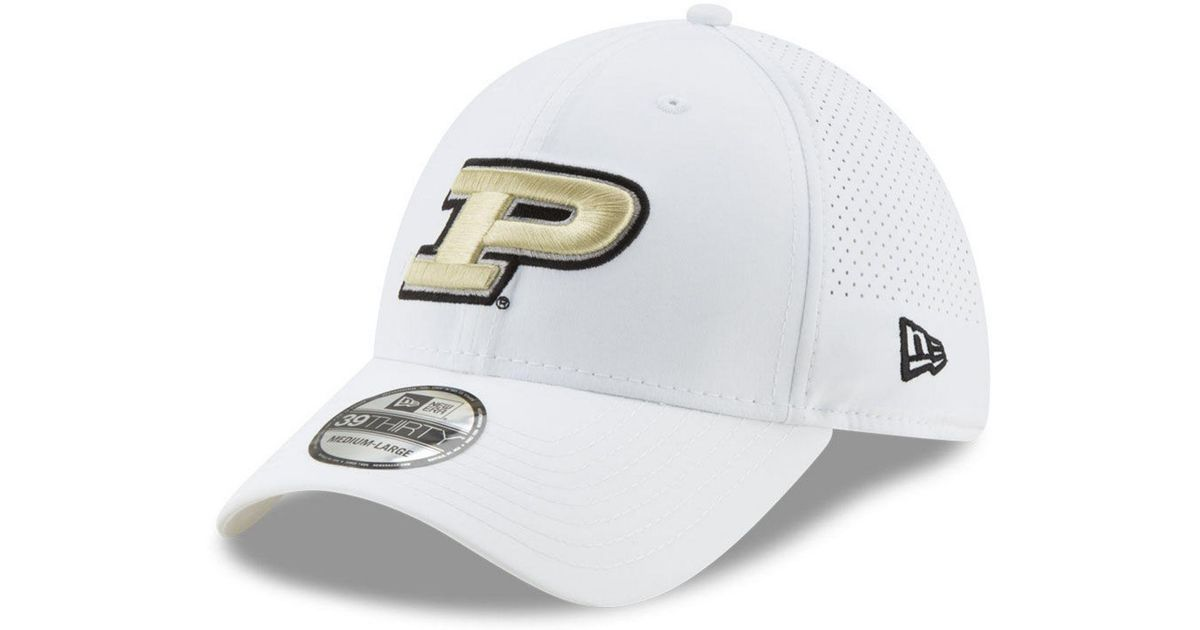 new concept 14da1 fda21 Lyst - KTZ Purdue Boilermakers Perf Play 39thirty Cap in White for Men