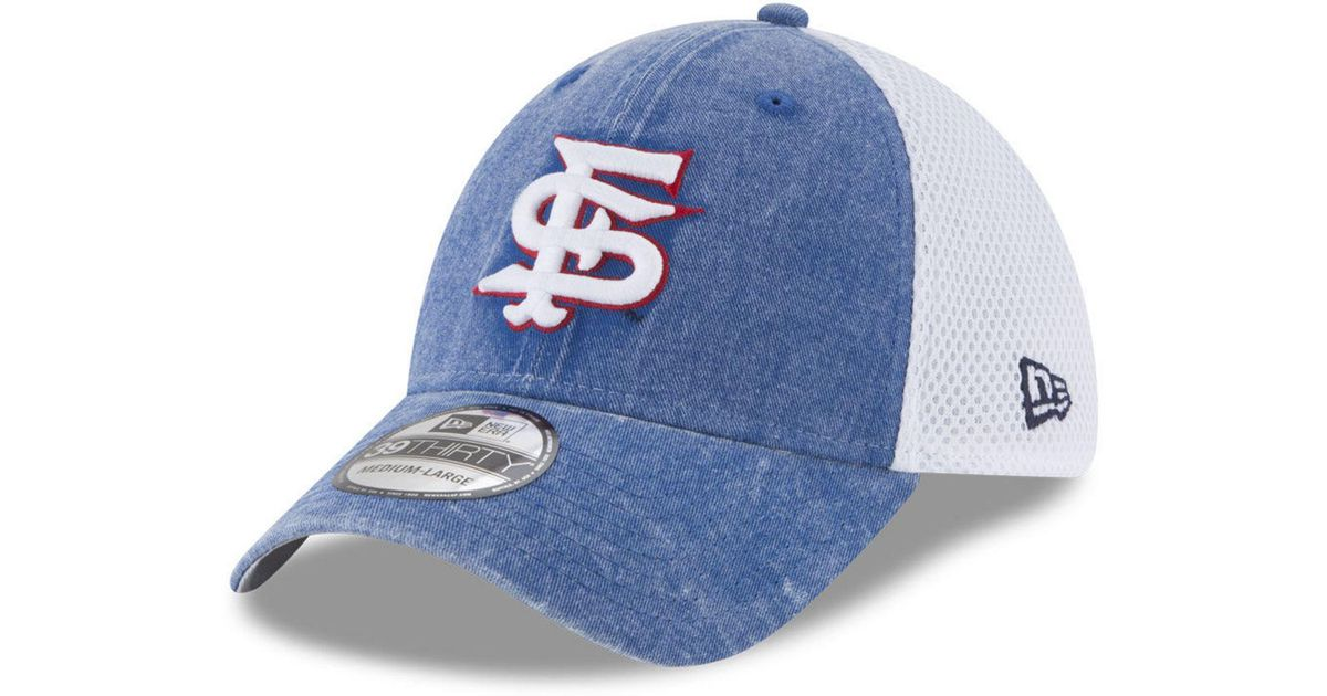 821ae15ecc8 Lyst - KTZ Fresno State Bulldogs Washed Neo 39thirty Cap in Blue for Men