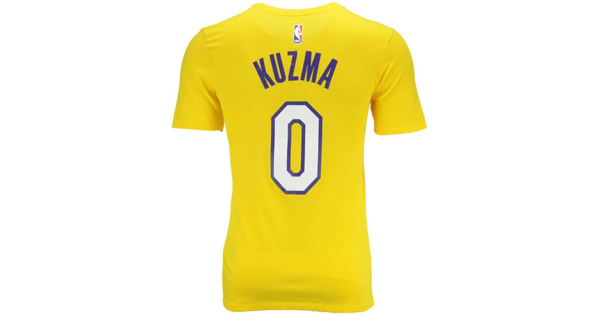 Lyst - Nike Kyle Kuzma Los Angeles Lakers Icon Player T-shirt in Yellow for  Men 4da1512d8