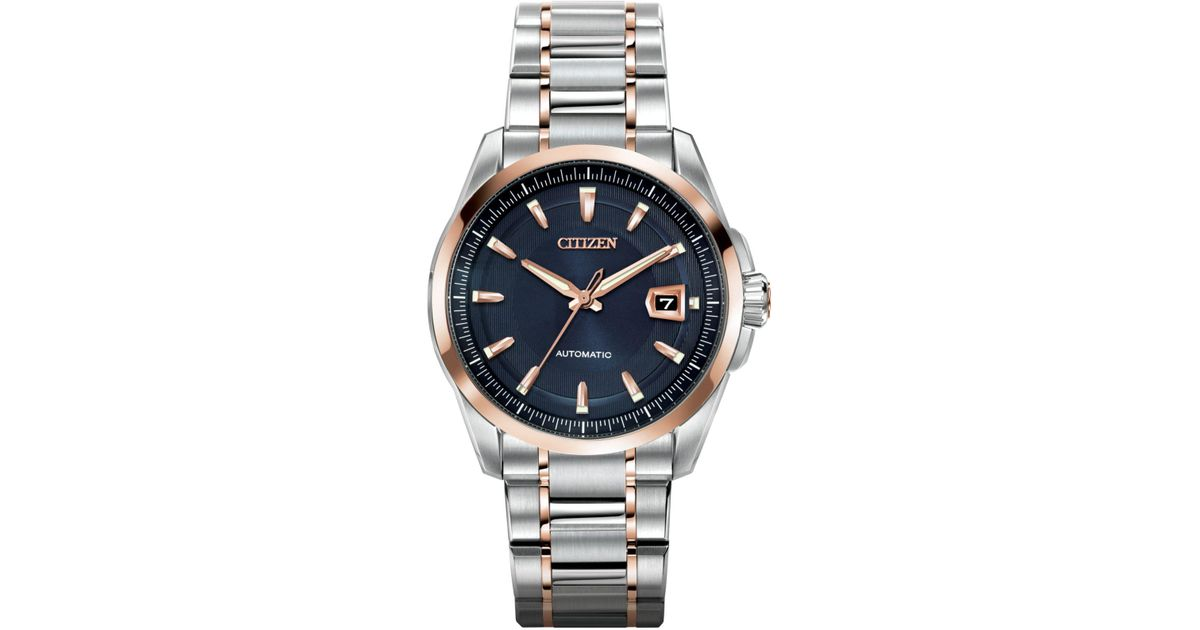 e99b01718c1 Lyst - Citizen Men s Automatic Grand Classic Eco-drive Two-tone Stainless  Steel Bracelet Watch 42mm Nb0046-51l in Gray for Men