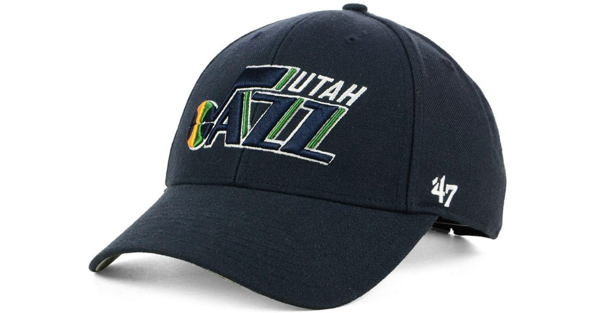 91e54d4a8b0c6 Lyst - 47 Brand Utah Jazz Team Color Mvp Cap in Blue for Men