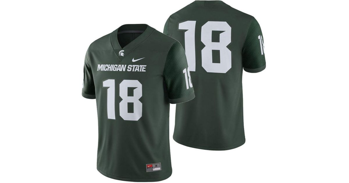 ba170c289f86 Lyst - Nike Michigan State Spartans Football Replica Game Jersey in Green  for Men