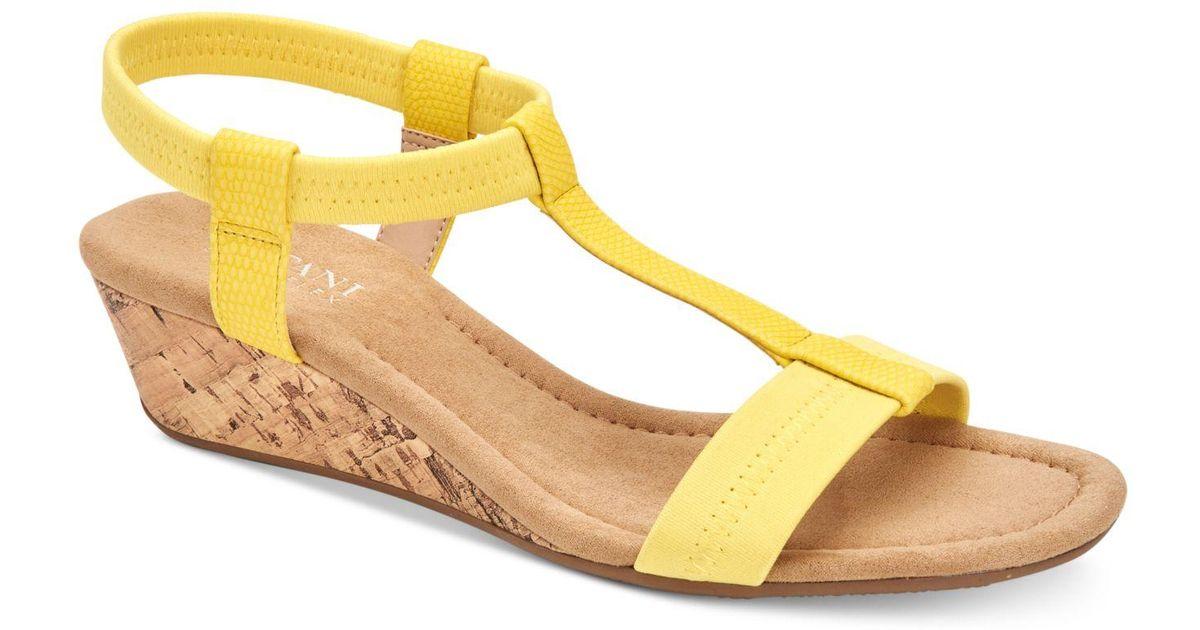 30a5477bad28 Lyst - Alfani Step  n Flex Voyage Wedge Sandals
