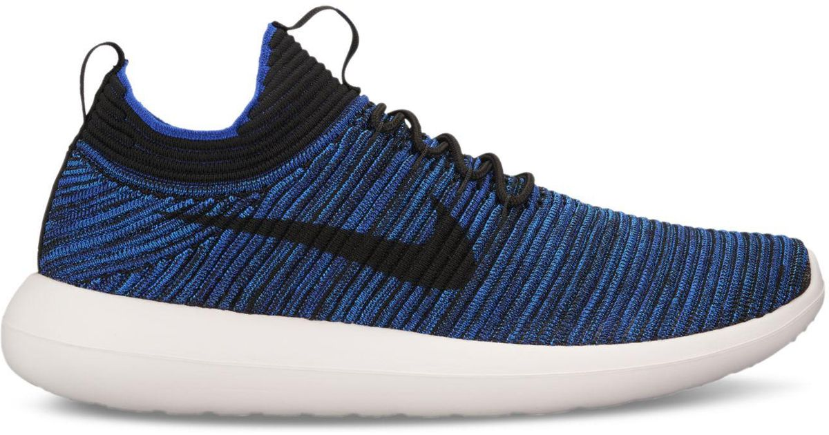 e067ef62c19 Lyst - Nike Roshe Two Flyknit V2 Casual Sneakers From Finish Line in Blue  for Men