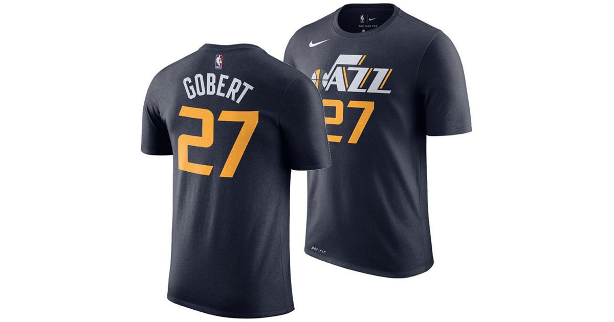 a27585109 Lyst - Nike Rudy Gobert Utah Jazz Icon Player T-shirt in Blue for Men