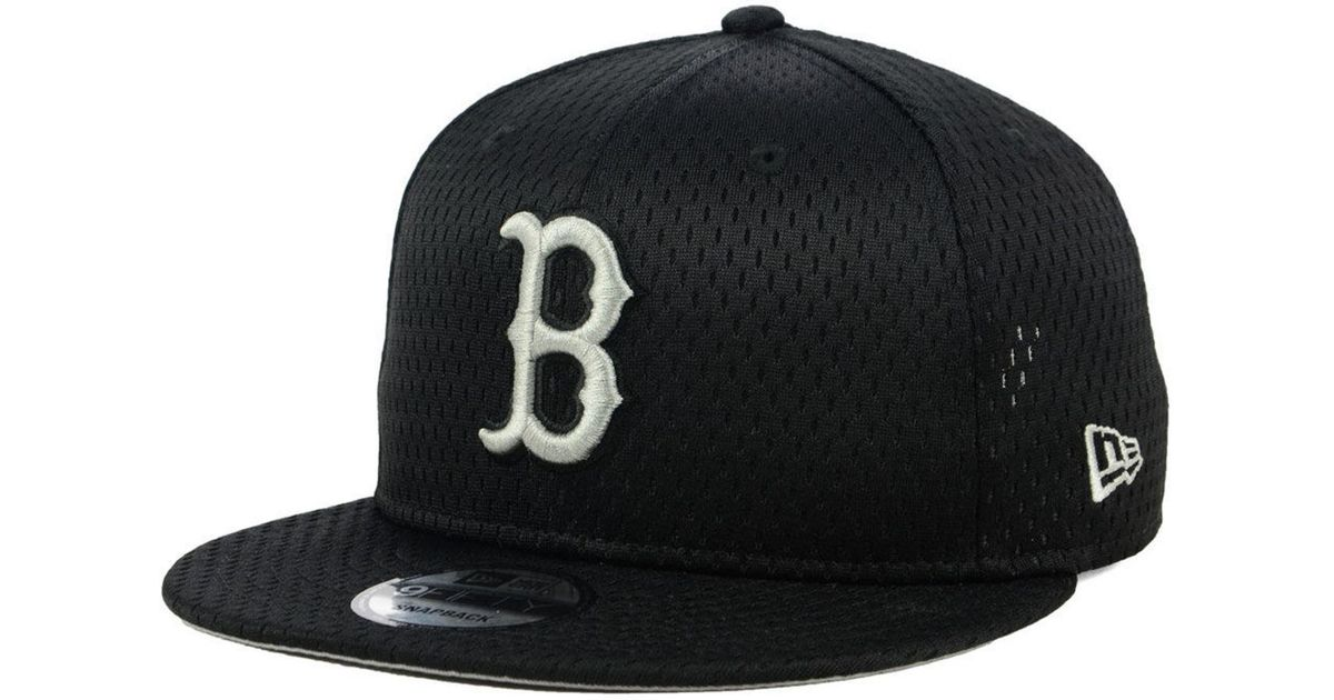 more photos 25a3c 69a1c KTZ Boston Red Sox Batting Practice Mesh 9fifty Snapback Cap in Black for  Men - Lyst