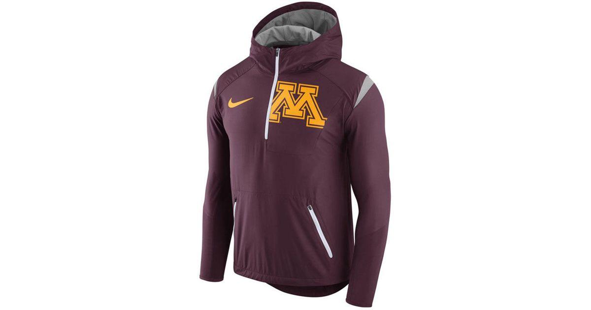 4ac7767ae Nike Minnesota Golden Gophers Fly-rush Quarter-zip Hoodie in Purple for Men  - Lyst