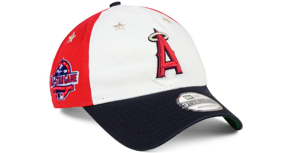 bf13f80eff4de Lyst - KTZ Los Angeles Angels All Star Game 9twenty Strapback Cap 2018 in  Red for Men