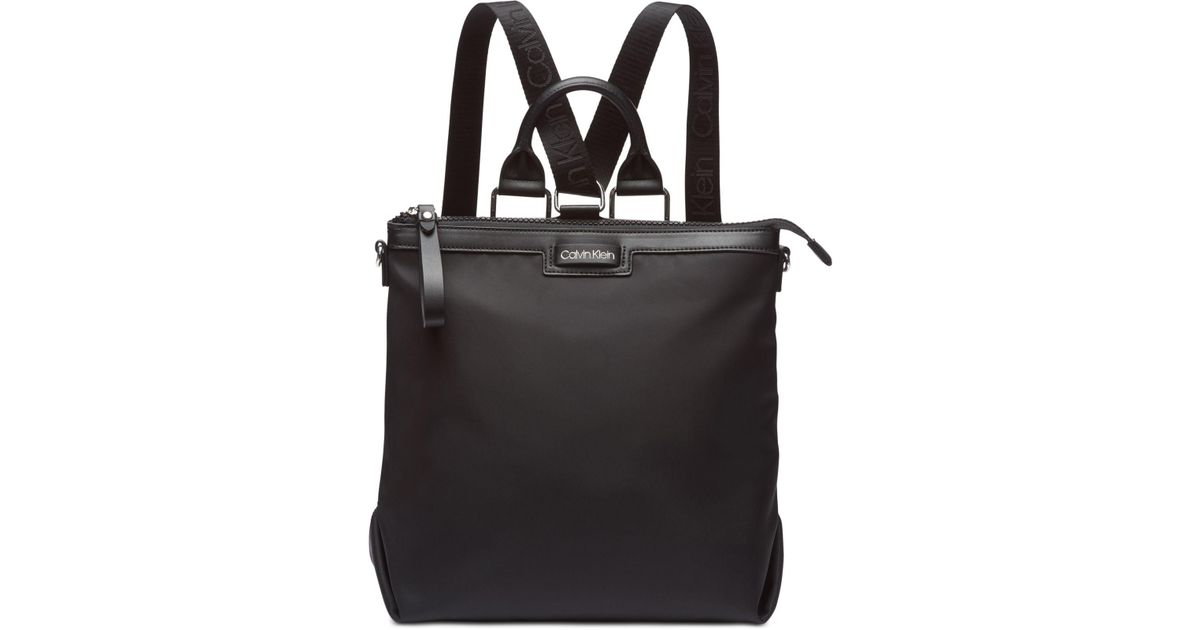 64f39a40693f Calvin Klein Calvn Klein Lane Backpack Logo Crossbody in Black - Lyst