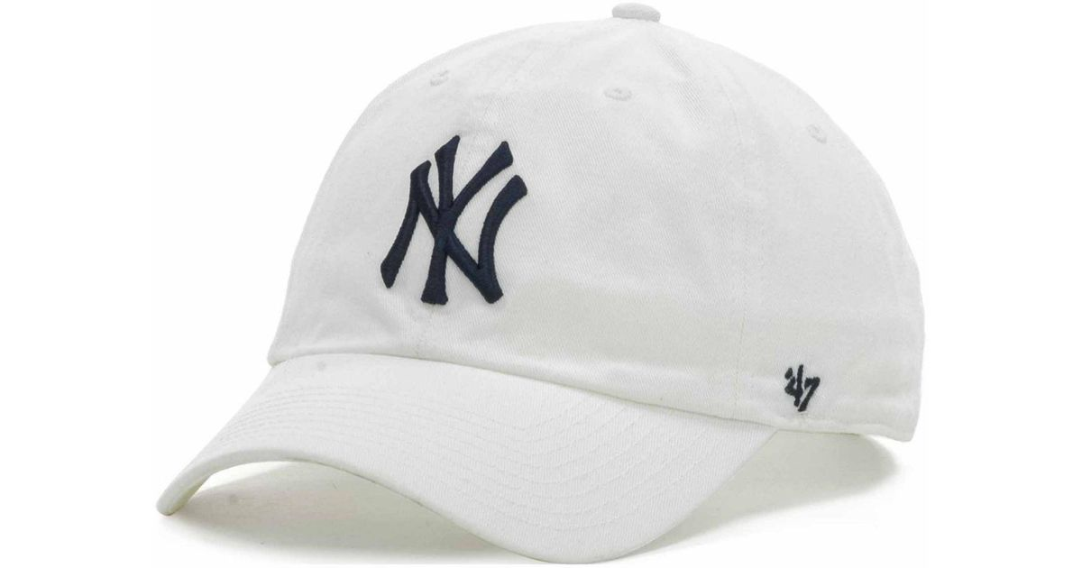 4ea67b375b9 Lyst - 47 Brand New York Yankees Clean Up Hat in White for Men