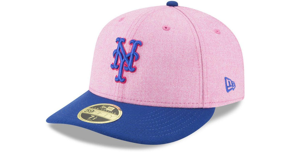 best website e4e31 c75c0 KTZ New York Mets Mothers Day Low Profile 59fifty Fitted Cap in Pink - Lyst