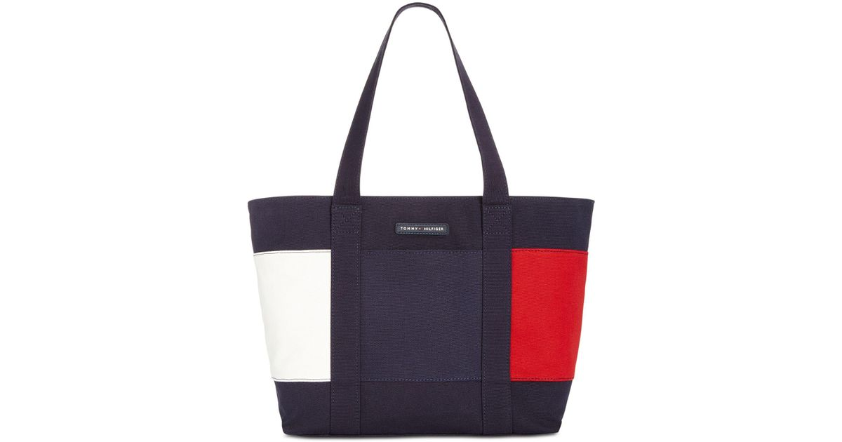 bc200b1754b8 Lyst - Tommy Hilfiger Flag Tote in Blue - Save 20%