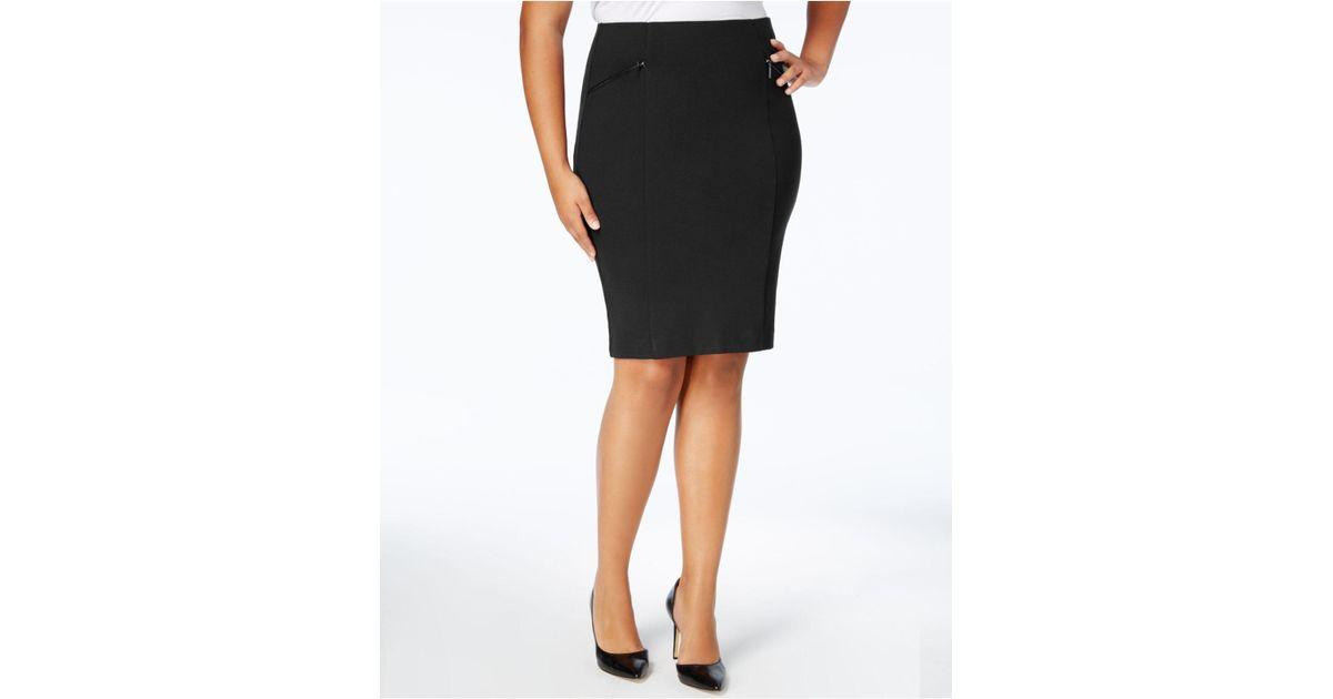 Lyst Alfani Plus Size Pencil Skirt In Black