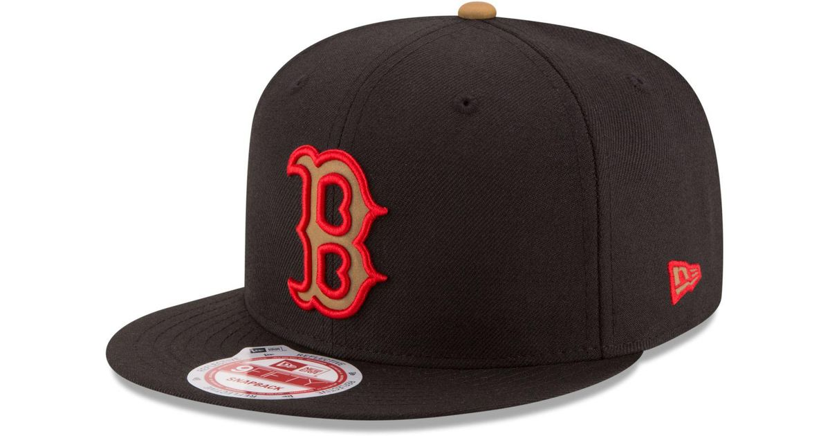 1bfdb9e857ee3e usa lyst ktz boston red sox goldie logo 9fifty snapback cap in black for  men c827d