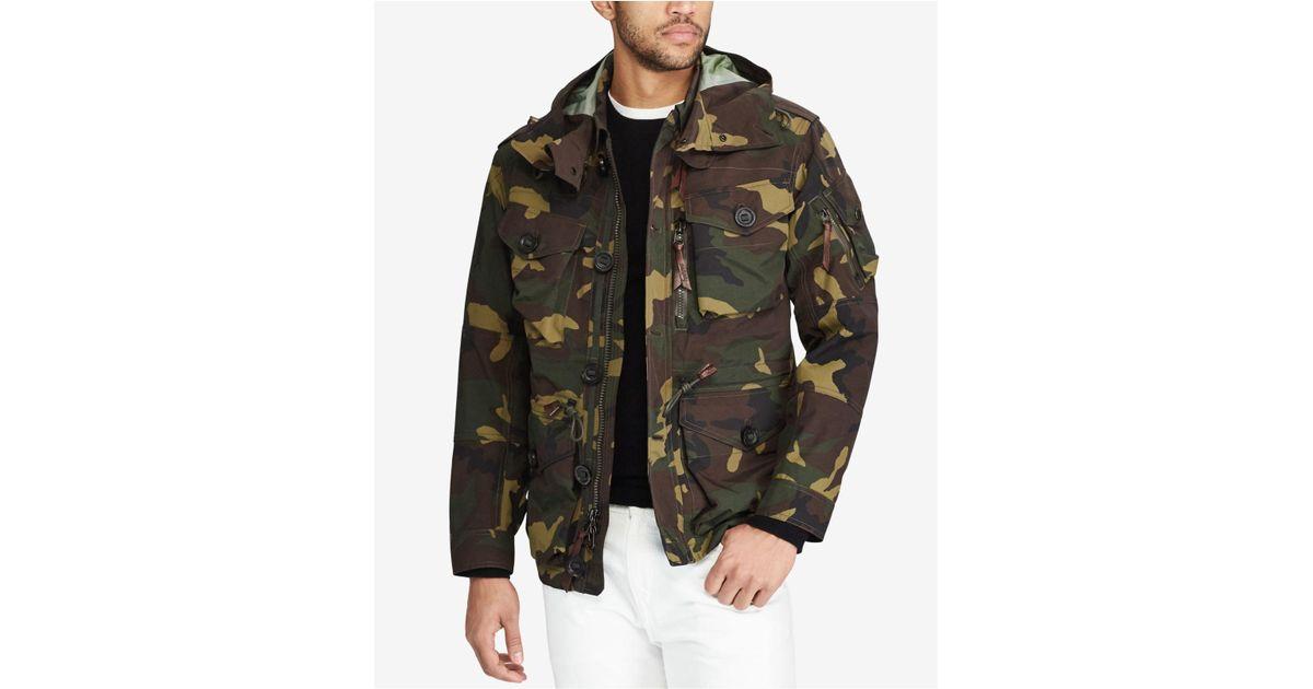9f762cc1c Polo Ralph Lauren Men s Camo Hooded Utility Jacket for Men - Lyst