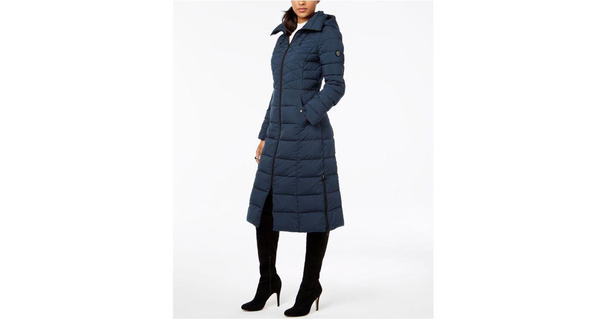 d15c977b0ae Lyst - Bernardo Maxi Puffer Coat in Blue