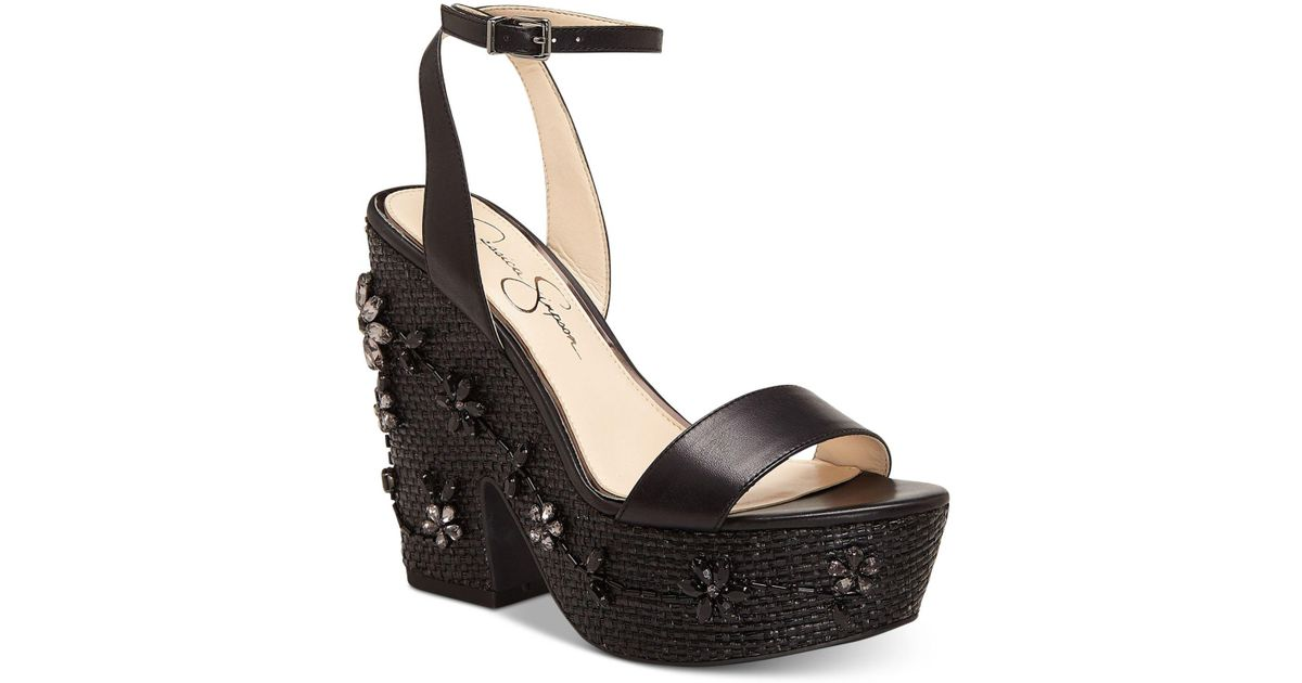 686a2a91b2f Lyst - Jessica Simpson Cressia Platform Sandal in Black - Save 29%