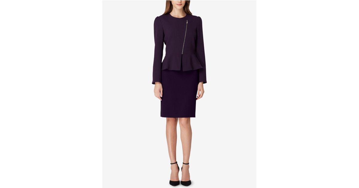 e864c2c01ad9 Tahari Zippered Peplum Skirt Suit in Purple - Lyst