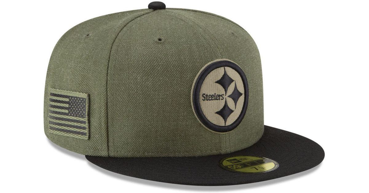 94d20550d3c Lyst - KTZ Pittsburgh Steelers Salute To Service 59fifty Fitted Cap in Green  for Men