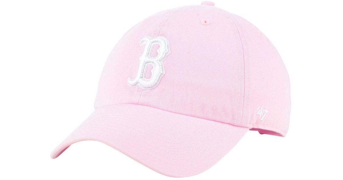 089710c0a2a ... wholesale lyst 47 brand boston red sox pink clean up cap in pink decc1  3560a