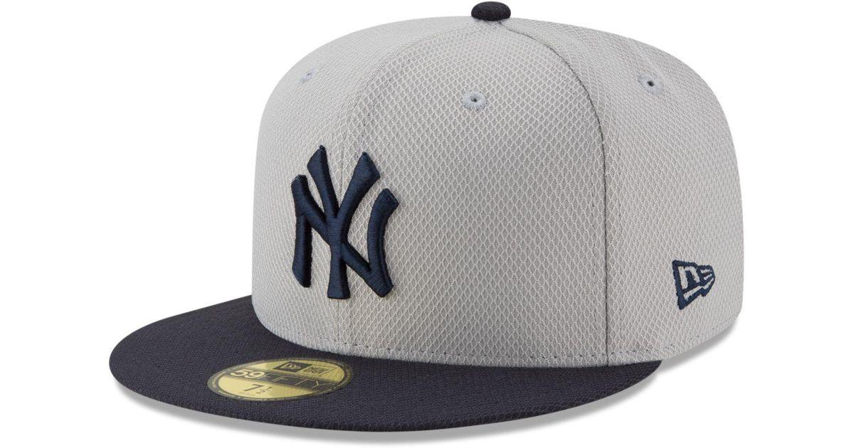 Lyst - Ktz New York Yankees Diamond Era Spring Training 59fifty Cap in Gray  for Men 95d086bb394
