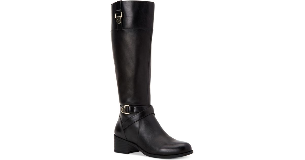 e9c51591e252 Lyst - Giani Bernini Revaa Memory Foam Riding Boots