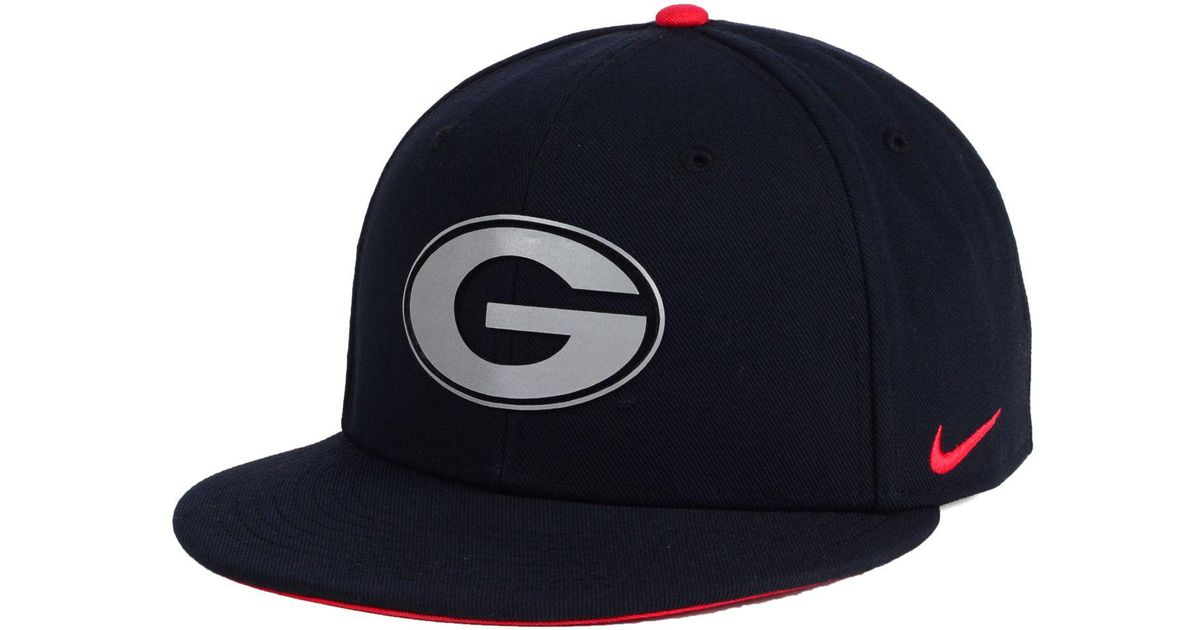 20e37e9da3f Lyst - Nike Georgia Bulldogs True Reflective Snapback Cap in Blue for Men