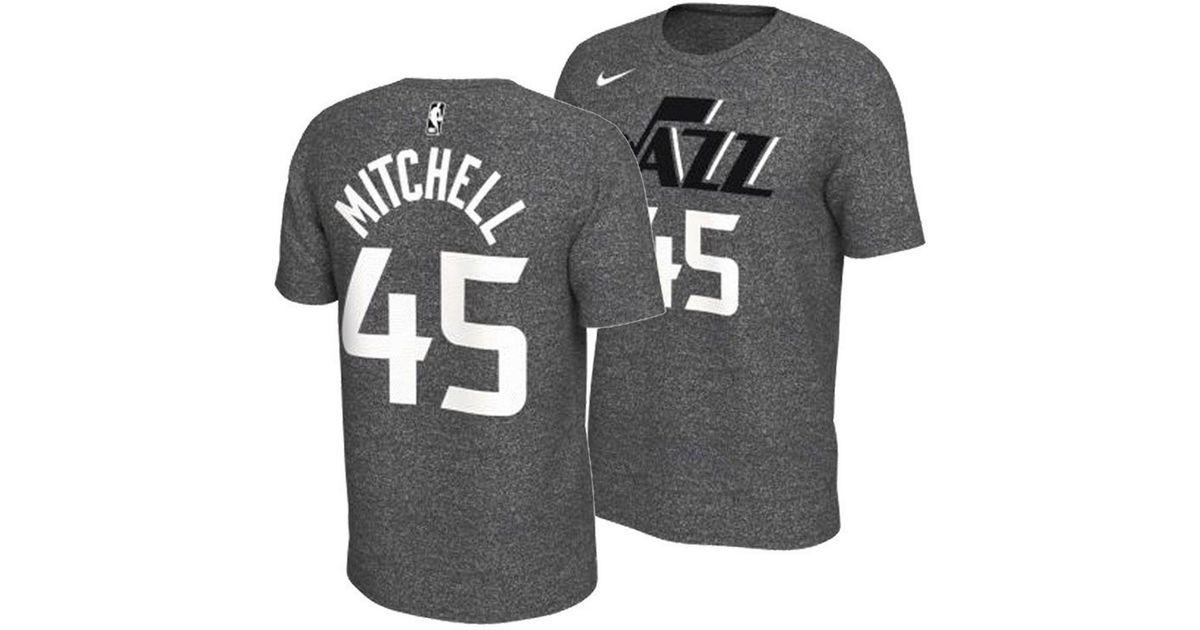 Lyst - Nike Donovan Mitchell Utah Jazz Marled Player T-shirt in Gray for Men 031b69b3c