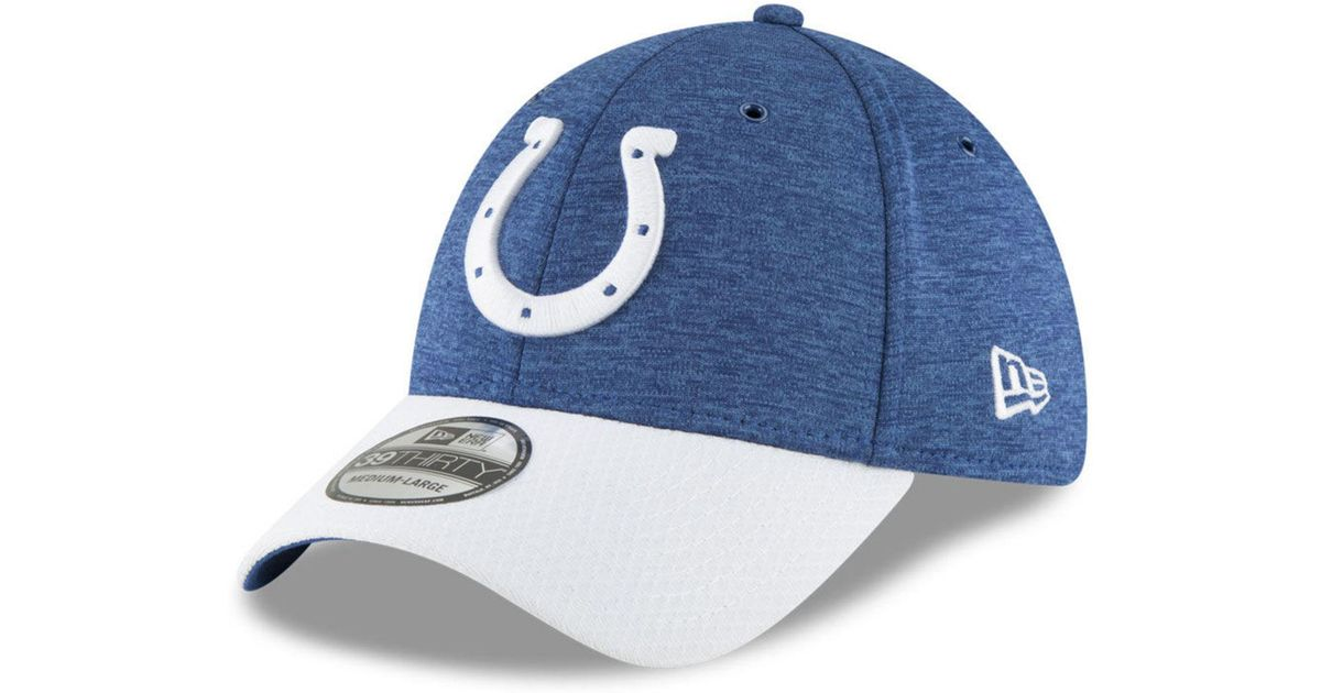 pick up a34f3 0d5b2 Lyst - KTZ Indianapolis Colts On Field Sideline Home 39thirty Cap in Blue  for Men