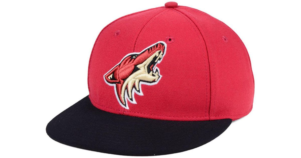 outlet store 65203 721f5 ... clearance lyst adidas arizona coyotes basic fitted cap in red for men  52284 49cec