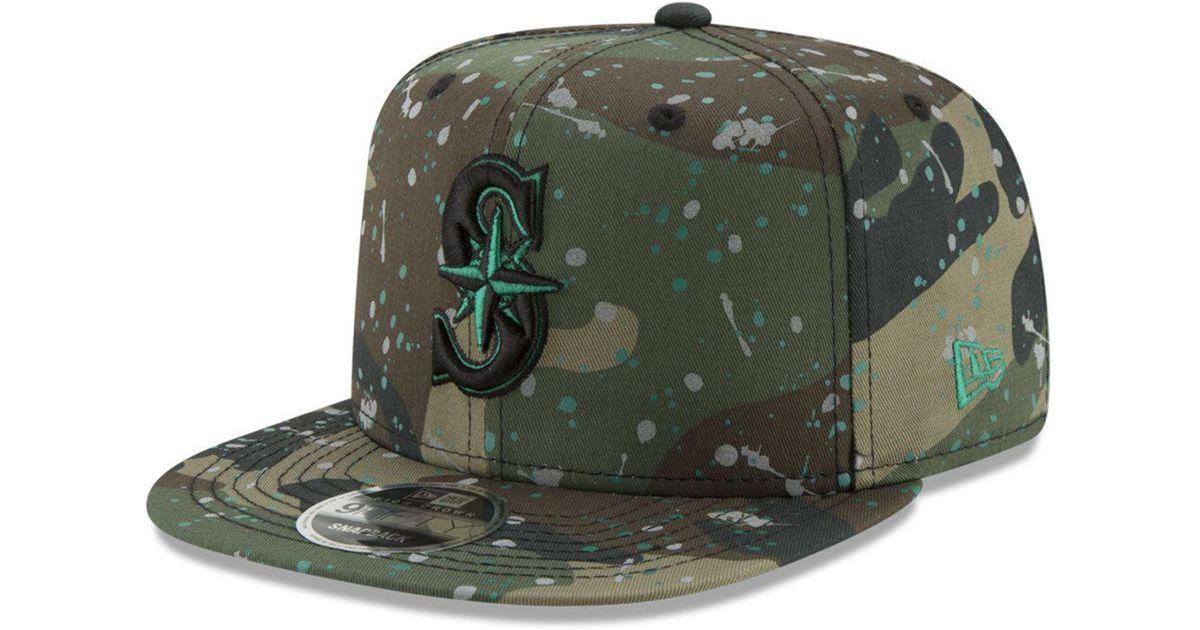 online store acad5 45892 KTZ Seattle Mariners Camo Spec 9fifty Snapback Cap in Green for Men - Lyst