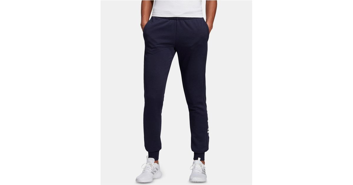 7d2e24d09931 Lyst - adidas Linear-logo French Terry Joggers in Blue