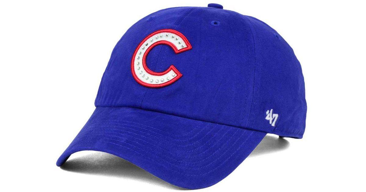 5501cb0da77 Lyst - 47 Brand Chicago Cubs Gemstone Clean Up Cap in Blue for Men