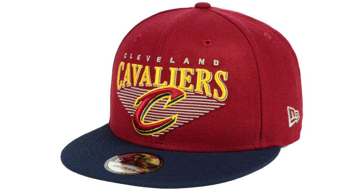 in stock bf535 db822 Lyst - KTZ Cleveland Cavaliers Retro Triangle 9fifty Snapback Cap in Red  for Men