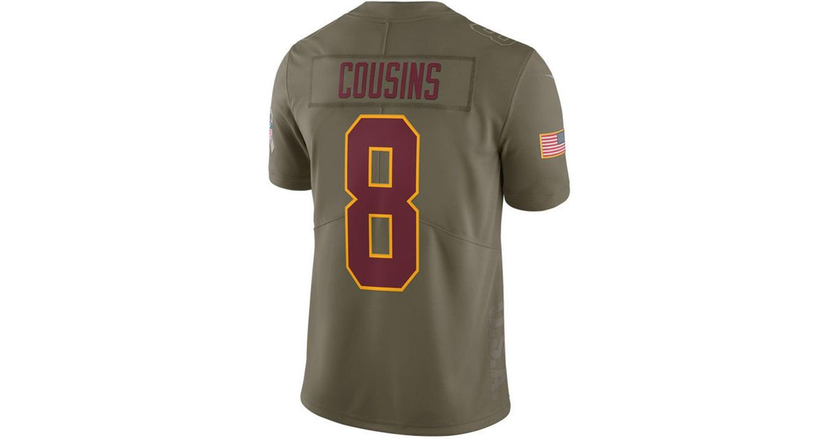 ... sweden lyst nike kirk cousins washington redskins salute to service  jersey in green for men 6b58e edaa4bd42
