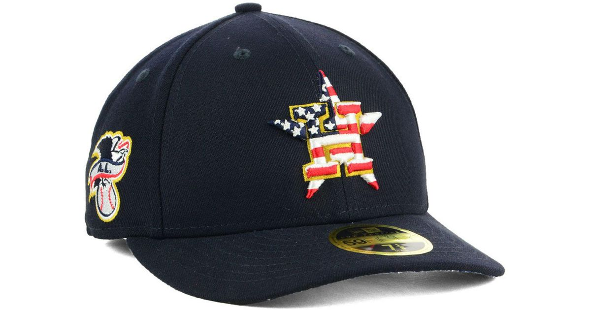 online retailer aeb71 4b590 KTZ Houston Astros Stars And Stripes Low Profile 59fifty Fitted Cap 2018 in  Blue for Men - Lyst