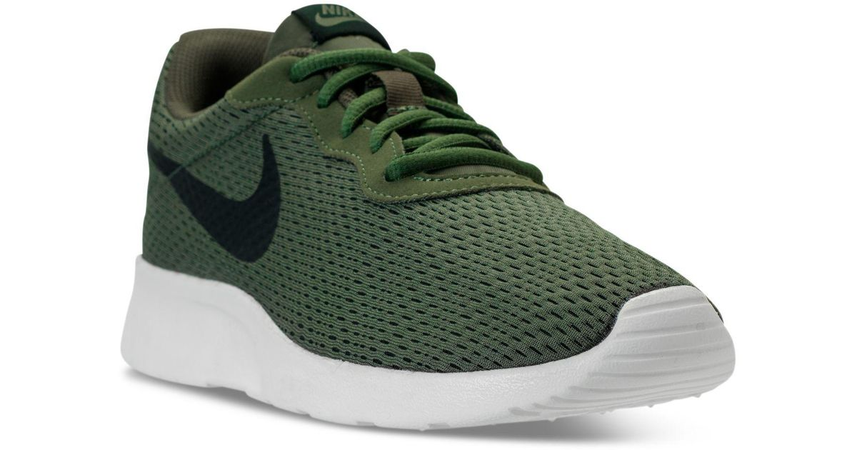 low priced 95784 ec7ee ... switzerland lyst nike mens tanjun se casual sneakers from finish line  in green for men 61fb5