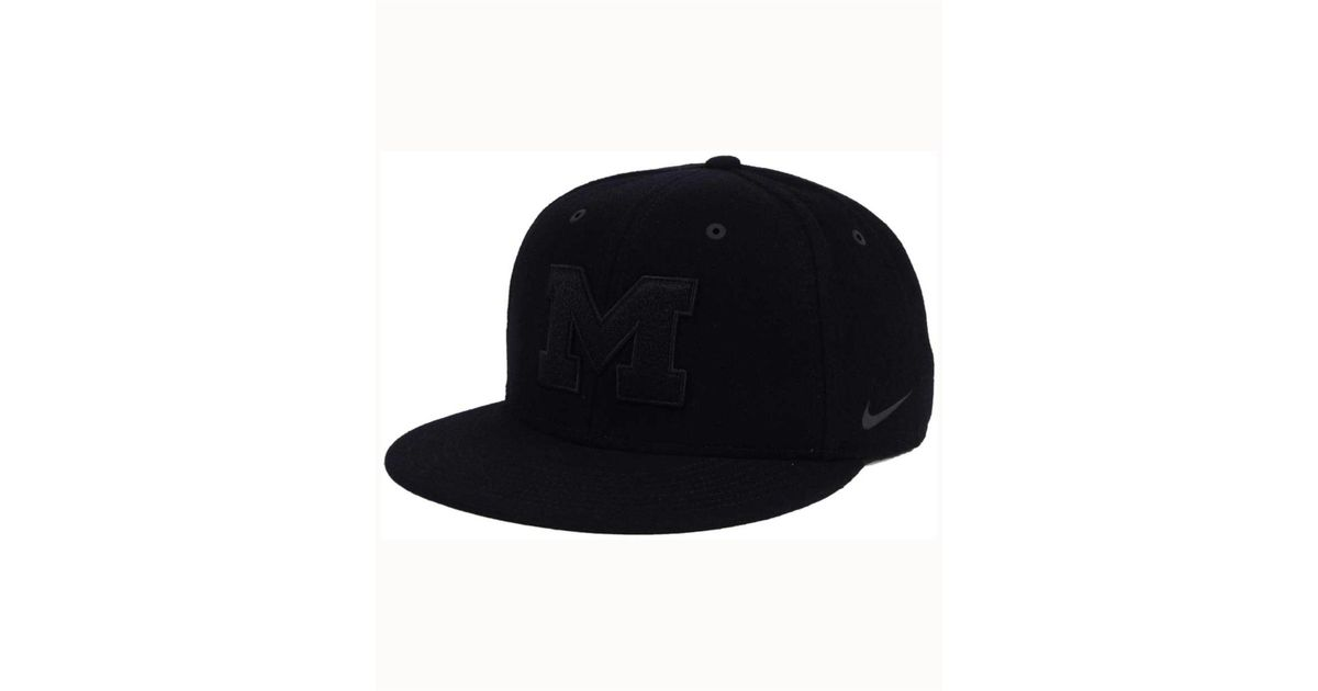 various colors 10a84 953e5 ... best price lyst nike michigan wolverines new day true snapback cap in  black for men 217c2