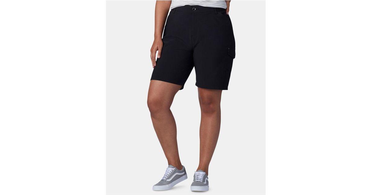 ac97fa248ca Lyst - Lee Platinum Plus Size Flex To Go Bermuda Cargo Shorts in Black