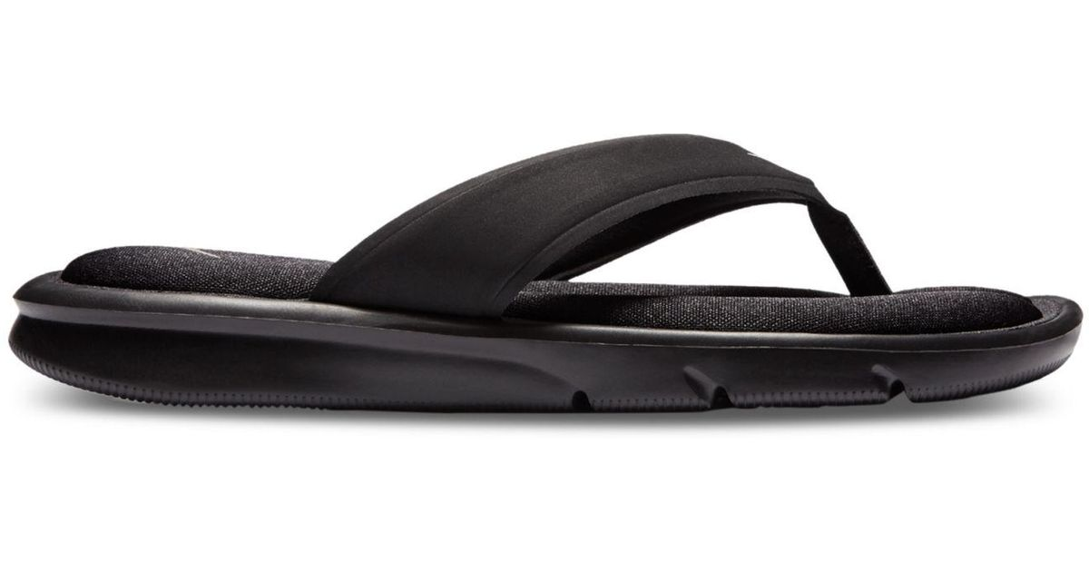 Nike Women's Ultra Comfort Thong Flip Flop Sandals From Finish Line in  Black | Lyst