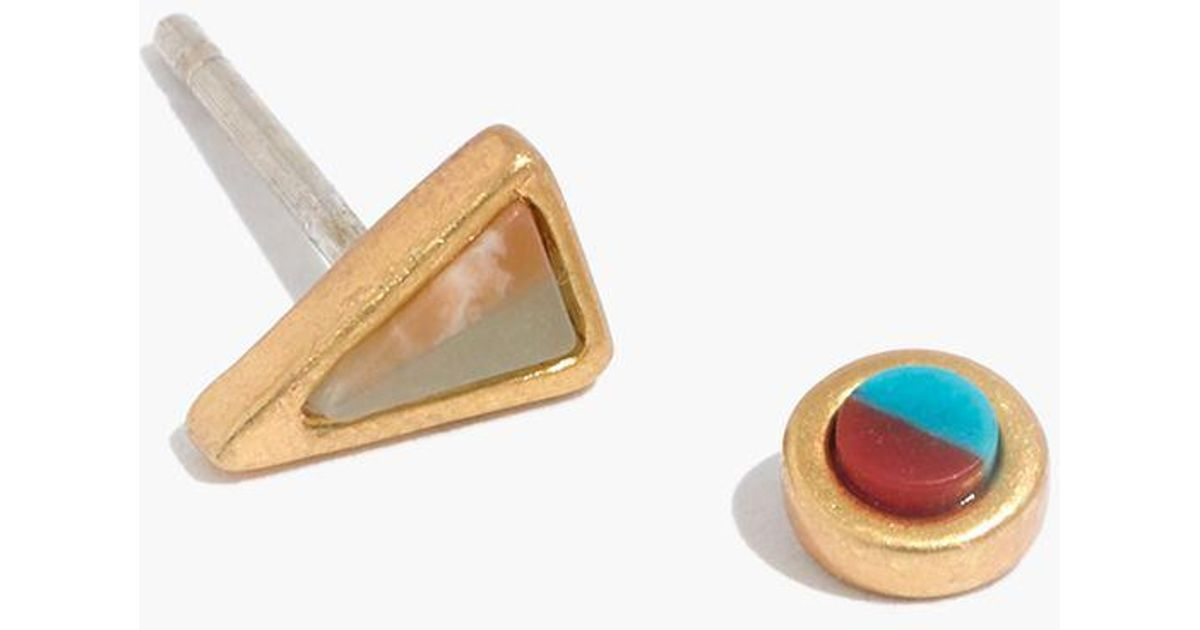 b132dbf16 Madewell Desert Sunset Mismatch Stud Earrings in Metallic - Lyst