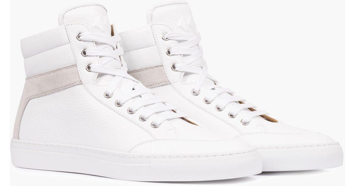 madewell koio primo bianco high top trainers in white. Black Bedroom Furniture Sets. Home Design Ideas