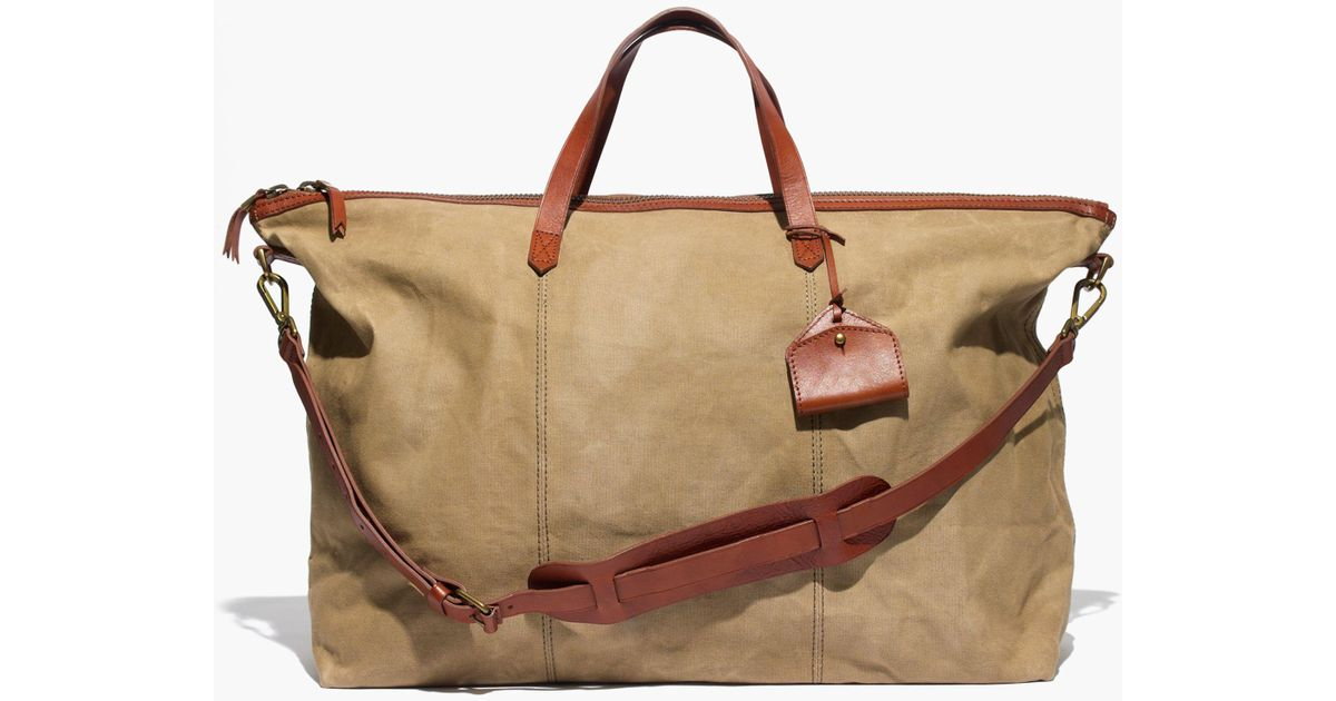962cba338 Madewell The Transport Weekender Canvas Bag in Brown - Lyst