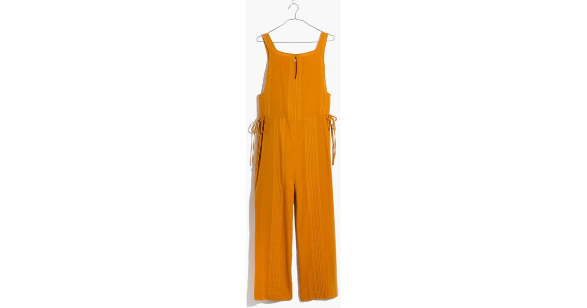 5eb100637cee8 Lyst - Madewell Esperanza Cover-up Jumpsuit in Orange