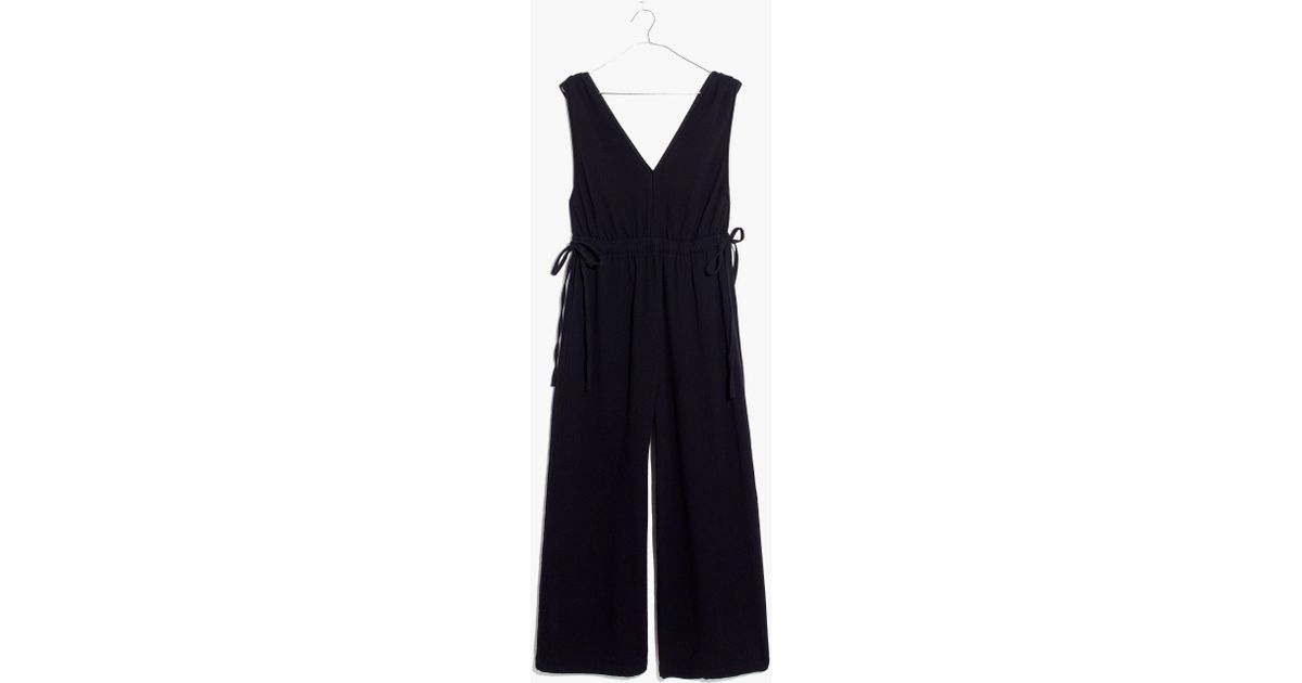 acbed436571e3 Madewell Waikiki Cover-up Jumpsuit in Black - Lyst
