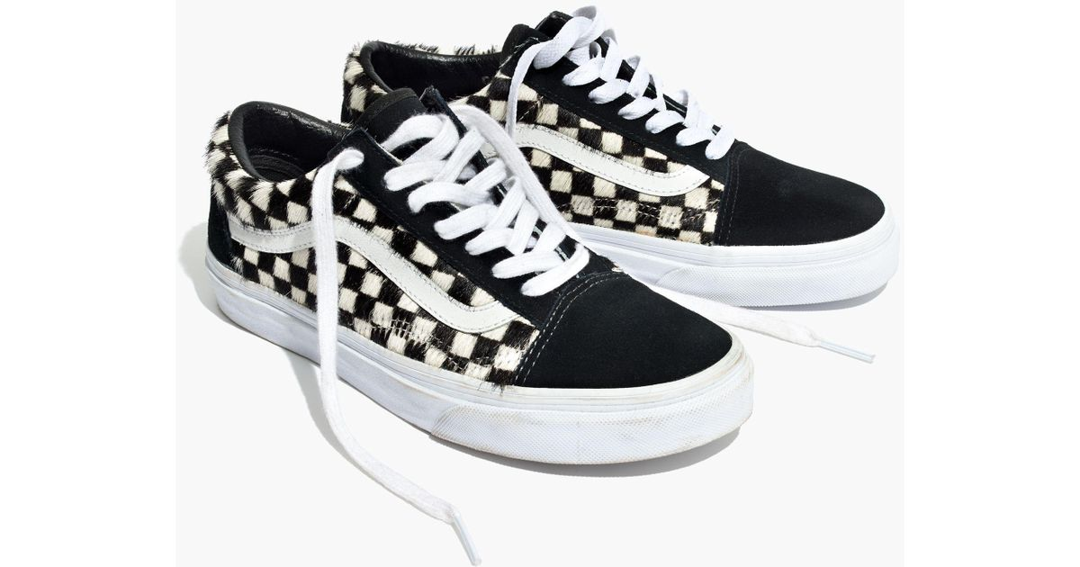 Lyst - Vans Madewell X ® Unisex Old Skool Lace-up Sneakers In Checked Calf  Hair 5dffe96b7cc9